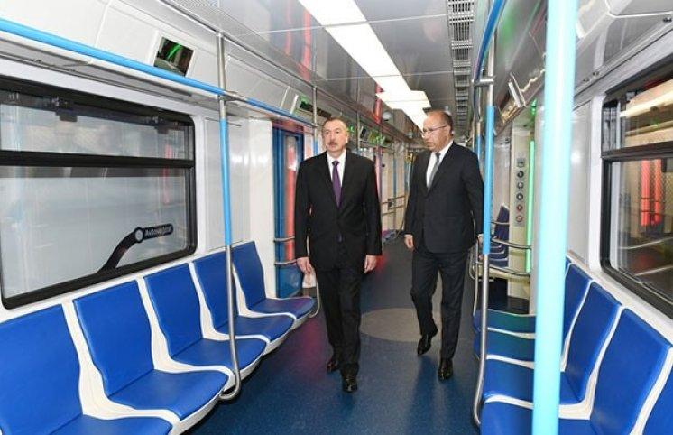 """Prezident İlham Əliyev """"Xətai"""" metrostansiyasının açılışında – Fotolar"""